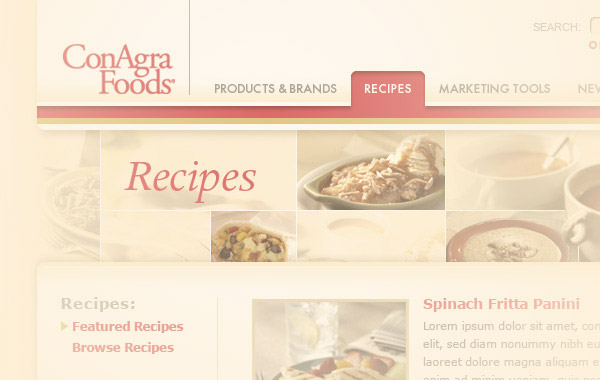 ConAgra Website Design
